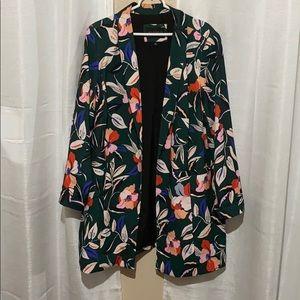 ELOQUII Floral Long Blazer